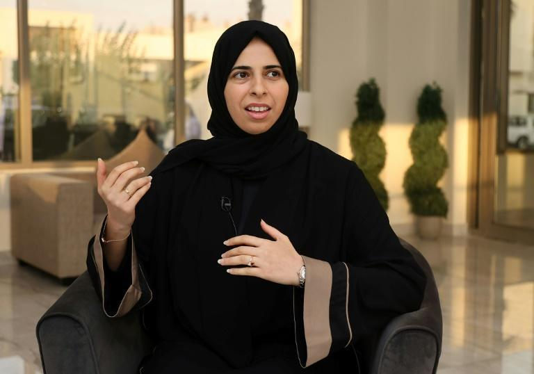 """Qatar's assistant Foreign Minister Lolwah al-Khater in an interview with AFP in which she said that the Taliban have shown """"a great deal of pragmatism"""" (AFP/KARIM JAAFAR)"""