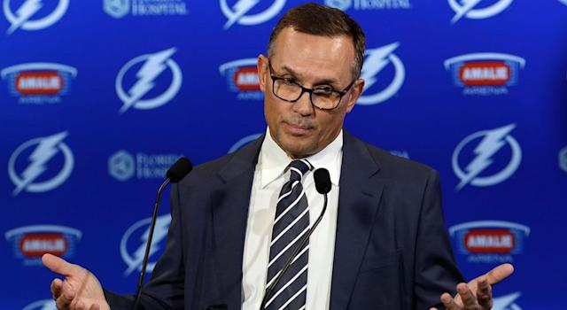 Steve Yzerman is entering the final year of his contract with the Lightning. (AP Images)