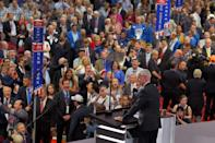 <p>Rep. Steve Womack, R-Ark., listens to a voice vote on the adoption of the rules during the opening day of the Republican National Convention in Cleveland, Monday, July 18, 2016. (AP Photo/Mark J. Terrill)</p>