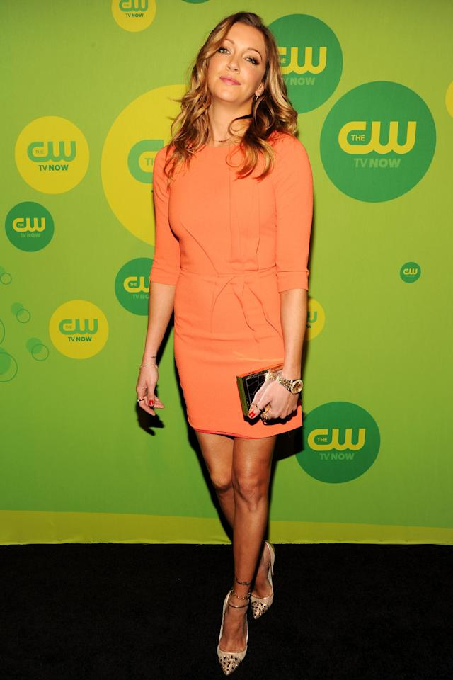 NEW YORK, NY - MAY 16:  Actress Katie Cassidy attends The CW Network's New York 2013 Upfront Presentation at The London Hotel on May 16, 2013 in New York City.  (Photo by Ben Gabbe/Getty Images)