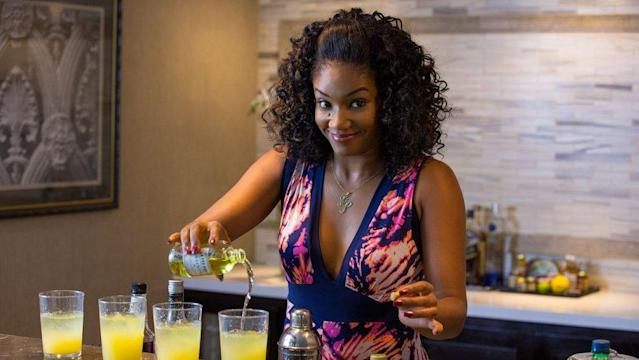 "<p>The <em>Girls Trip </em>star had us in stitches as she read off the names of all the morning's nominees. She even kept her smile up <a href=""https://twitter.com/tarantallegra/status/955800727825235968"" rel=""nofollow noopener"" target=""_blank"" data-ylk=""slk:when announcing her own snub"" class=""link rapid-noclick-resp"">when announcing her own snub</a> from the Best Supporting Actress field. At least we'll always have <a href=""https://www.yahoo.com/entertainment/tiffany-haddish-already-won-award-best-acceptance-speech-143901099.html"" data-ylk=""slk:this acceptance speech;outcm:mb_qualified_link;_E:mb_qualified_link"" class=""link rapid-noclick-resp"">this acceptance speech</a>. (Photo: Universal Pictures) </p>"