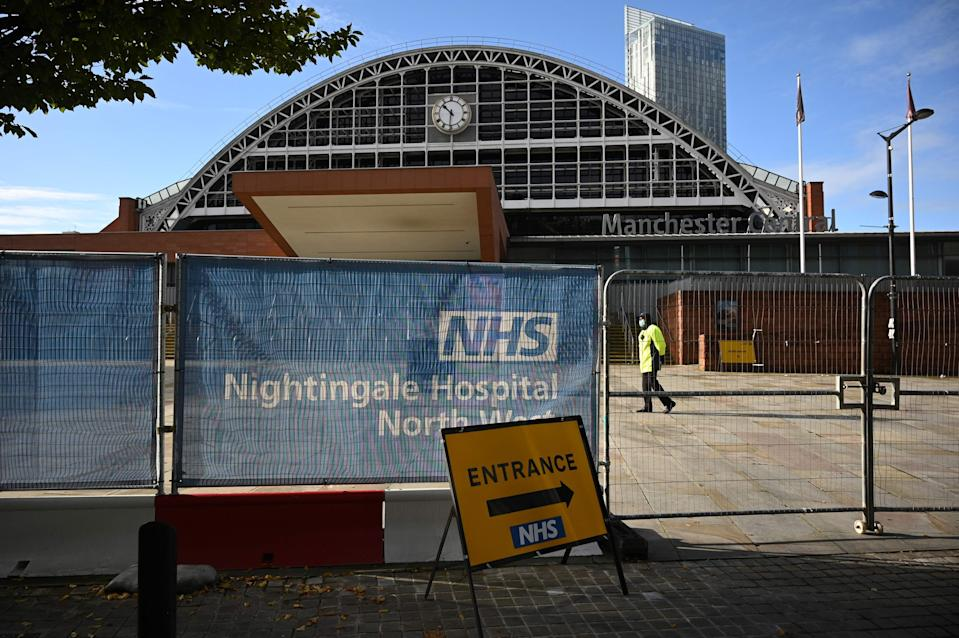 Coronavirus field hospital in Manchester (AFP via Getty Images)