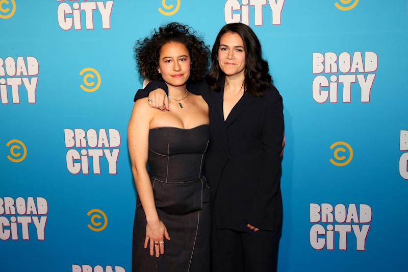 NEW YORK, NY - JANUARY 22: Ilana Glazer and Abbi Jacobson attend Comedy Central's 'Broad City' season five premiere party at Stage 48 on January 22, 2019 in New York City. (Photo by Astrid Stawiarz/Getty Images for Comedy Central)