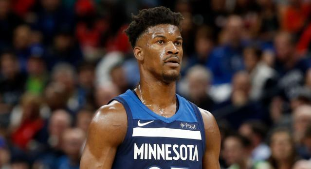 "The <a class=""link rapid-noclick-resp"" href=""/nba/players/4912/"" data-ylk=""slk:Jimmy Butler"">Jimmy Butler</a> saga is a show of its own. (AP)"