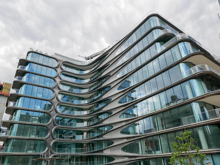 Manhattan's Zaha Hadid–designed condo, where a penthouse recently sold for $24.95 million.