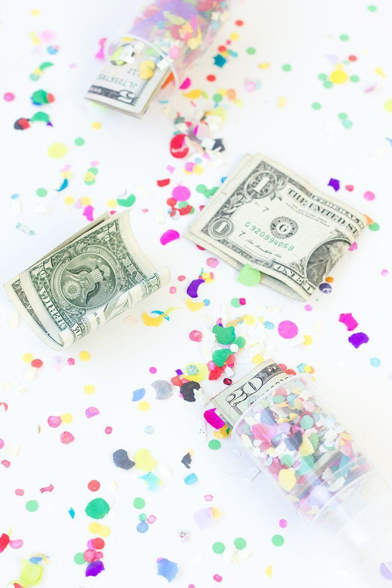 """<p>No party is complete without favors. With these, you can surprise your grad with various amounts of cash in each.</p><p><strong>See the tutorial at </strong><a href=""""https://studiodiy.com/2014/05/27/diy-surprise-money-confetti-poppers/"""" rel=""""nofollow noopener"""" target=""""_blank"""" data-ylk=""""slk:Studio DIY"""" class=""""link rapid-noclick-resp""""><strong>Studio DIY</strong></a><strong>.</strong></p><p><a class=""""link rapid-noclick-resp"""" href=""""https://www.amazon.com/Push-Up-Shooter-Plastic-Containers-Sticks/dp/B07JR8V8BB/?tag=syn-yahoo-20&ascsubtag=%5Bartid%7C10050.g.31121022%5Bsrc%7Cyahoo-us"""" rel=""""nofollow noopener"""" target=""""_blank"""" data-ylk=""""slk:SHOP PUSH POPS""""><strong>SHOP PUSH POPS</strong></a></p>"""