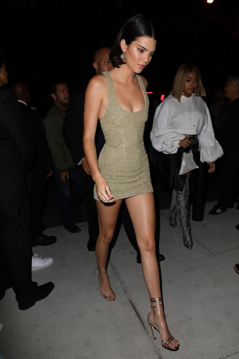 Coveted celeb thighs include Kendall Jenner's. Photo: Getty