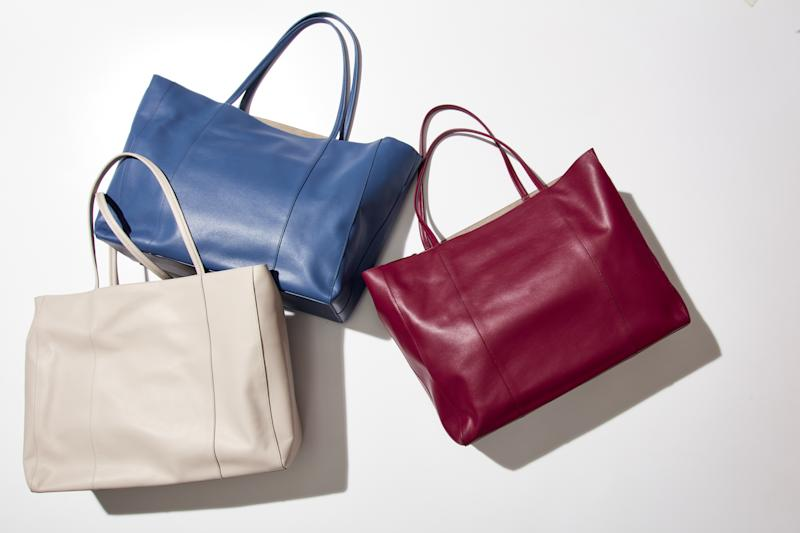 Carry-all totes ($150) from Italic