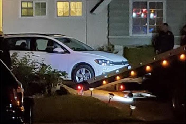 Authorities impound a vehicle connected to a shooting in Whittier, Calif. (Courtesy David Kamp)