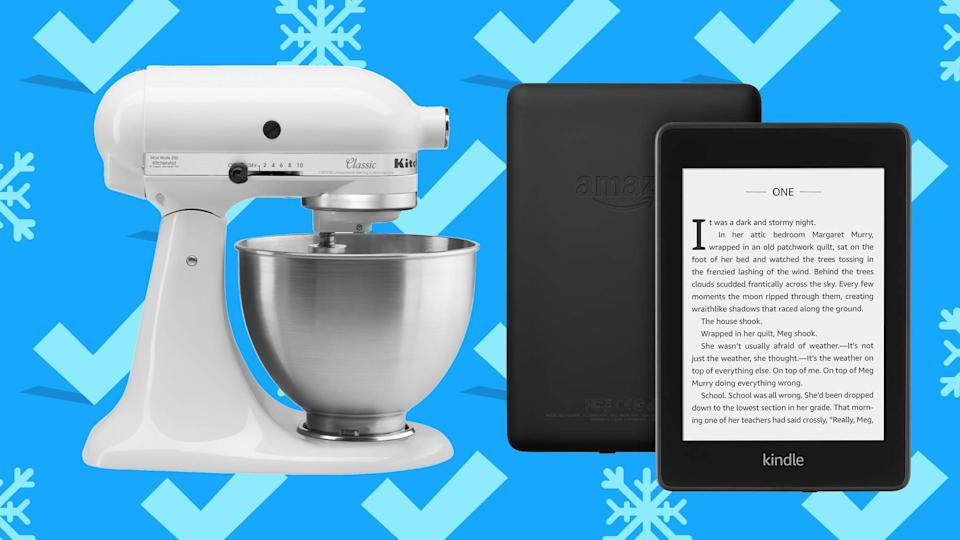 From the iconic KitchenAid mixer to a new Kindle, you can snag great prices on gifts for the holiday (or yourself).