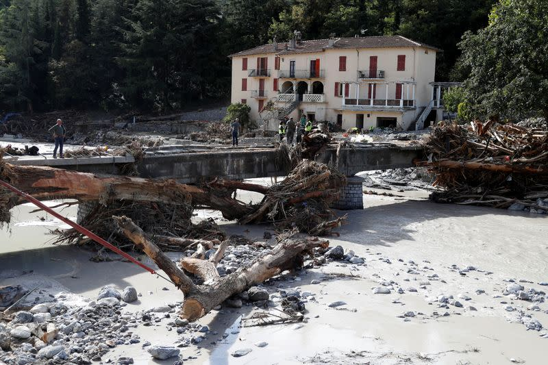 Four dead in southern France flooding, up to 18 missing