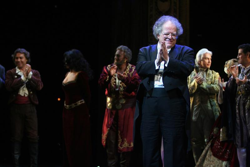 James Levine, seen here in 2009, served as a conductor with the Met for more than four decades. (Hiroyuki Ito via Getty Images)