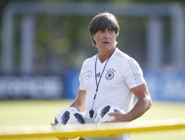 Soccer Football - World Cup - Germany Training - Germany Training Camp, Moscow, Russia - June 25, 2018 Germany coach Joachim Low during training REUTERS/Axel Schmidt
