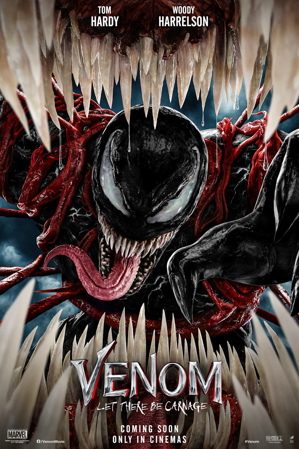 The poster for Venom: Let The Be Carnage (Sony Pictures)