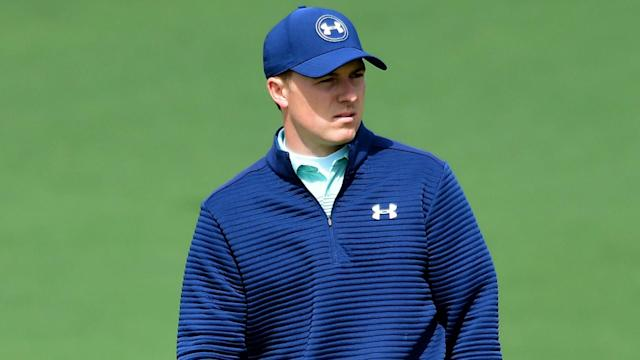 Jordan Spieth endured the misery of another quadruple bogey at Augusta, coming to grief with an astonishing nine at the 15th on Thursday.