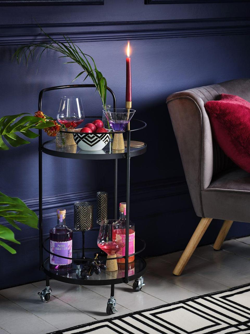 """<p>'Made up of bold colours and flamboyant style, this trend is perfect for creating an entertaining space at home. Ornate florals, velvets and fringing make for an eclectic and theatrical feel.'</p><p><a class=""""link rapid-noclick-resp"""" href=""""https://direct.asda.com/george/home/D26,default,sc.html"""" rel=""""nofollow noopener"""" target=""""_blank"""" data-ylk=""""slk:SHOP NOW"""">SHOP NOW</a></p>"""