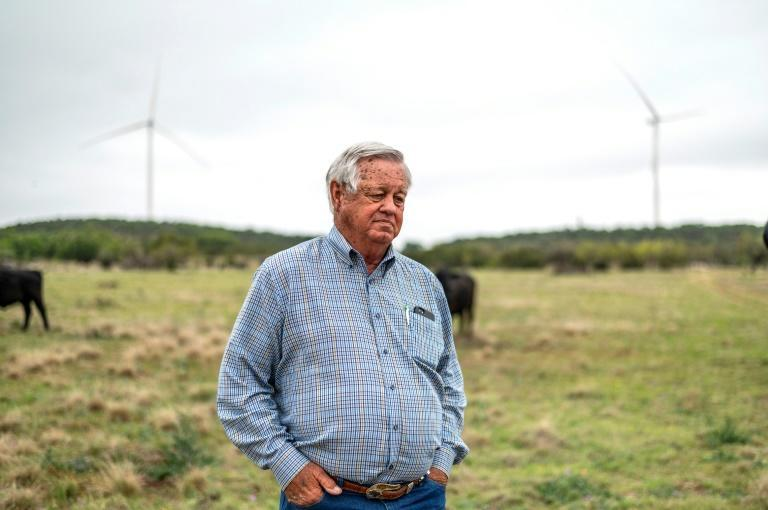 Cattle rancher Bobby Helmers, 79, has joined the renewable energy revolution, recently allowing utility company Engie to build several wind turbines on his land in Texas