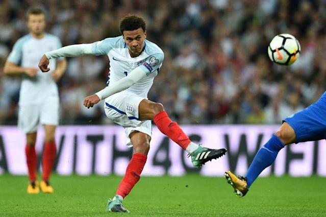 Television footage showed Tottenham midfielder Alli making a middle-finger salute shortly after a collision with Slovakia's Martin Skrtel