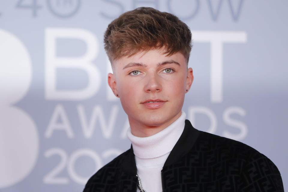 British singer Hrvy poses on the red carpet on arrival for the BRIT Awards 2020 in London on February 18, 2020. (Photo by TOLGA AKMEN/AFP via Getty Images)