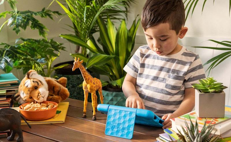 The Fire 7 Kids Edition tablet provides seven hours of uninterrupted entertainment and education.
