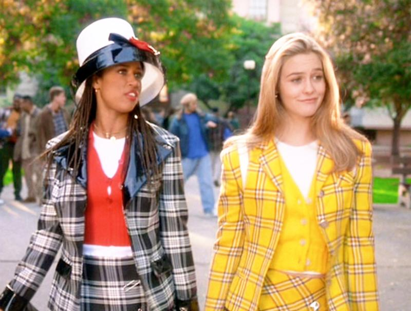 Stacey Dash (as Dionne Davenport), and Alicia Silverstone (as Cher Horowitz) in 'Clueless'. (Photo by Paramount/CBS via Getty Images)