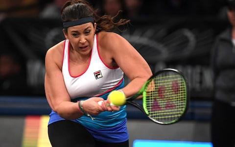 <span>Bartoli was playing her first singles match since coming out of retirement</span> <span>Credit: AFP </span>