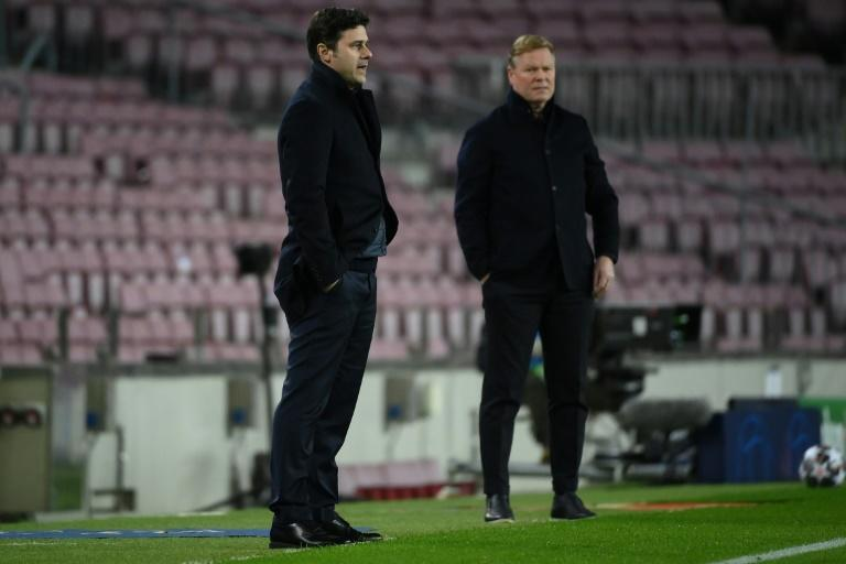Koeman (right) insists Barcelona still a work in progress