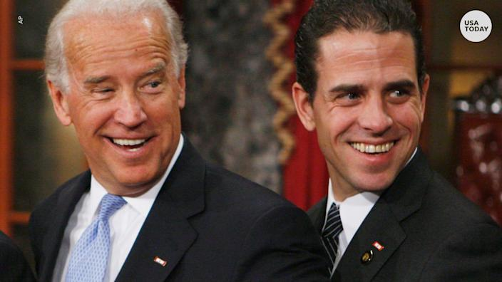 """Joe Biden said """"not one single, solitary thing was out of line"""" with his and his son Hunter Biden's dealings with Ukraine."""