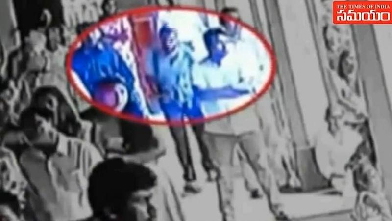 The suspected bomber was captured on CCTV entering the church. Source: TV9/Times of India