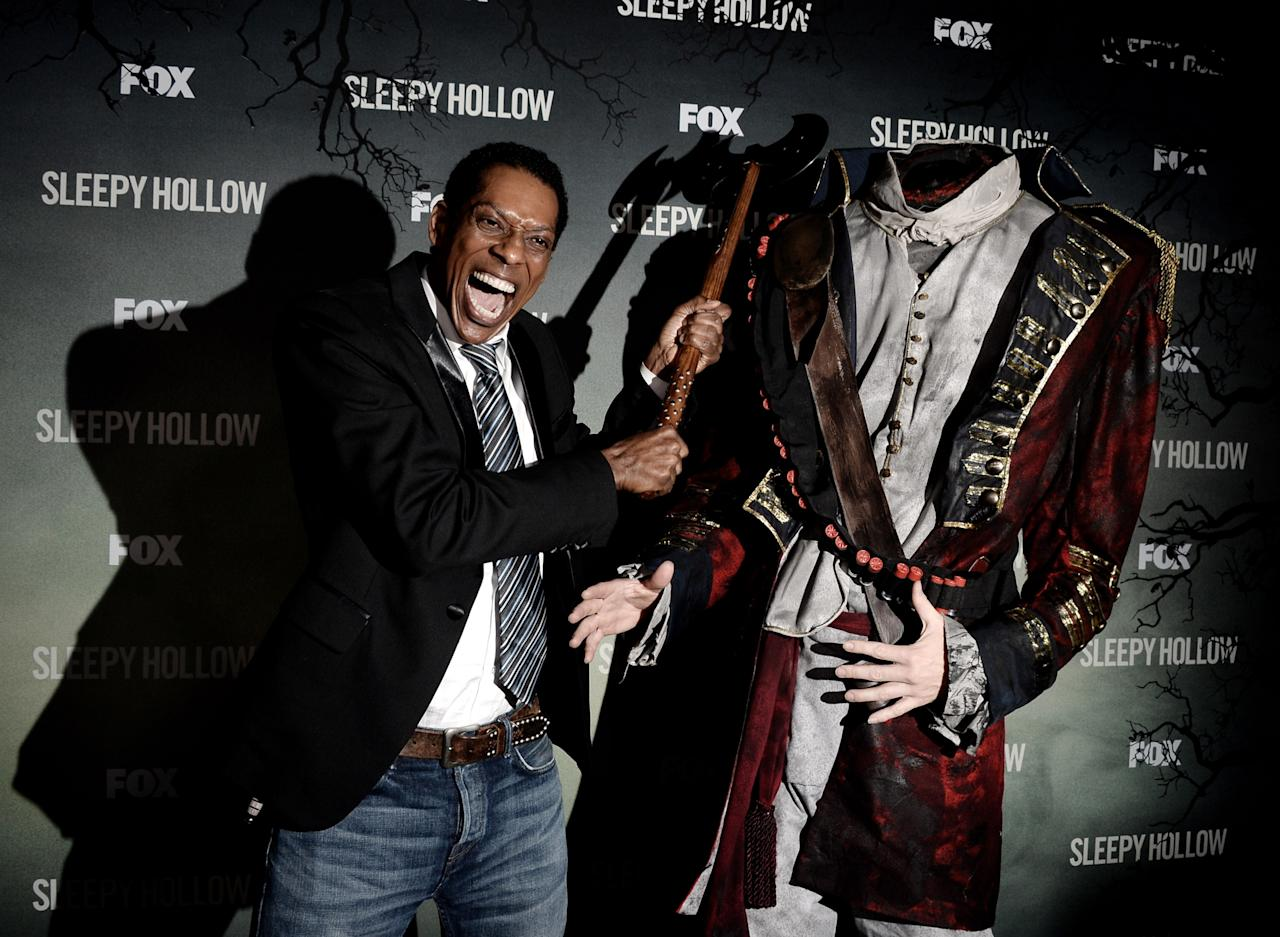 "LOS ANGELES, CA - SEPTEMBER 08: Actor Orlando Jones arrives at a special screening of 20th Century Fox Television's ""Sleepy Hollow"" at the Hollywood Forever Cemetery on September 8, 2013 in Los Angeles, California. (Photo by Kevin Winter/Getty Images)"