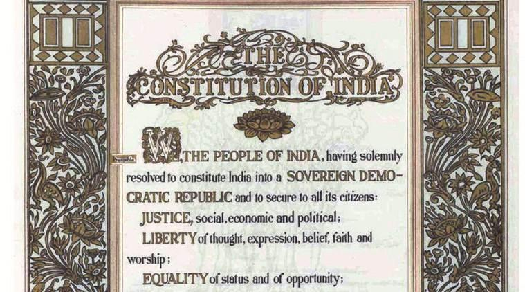 Indian Preamble, Preamble to the constitution, Citizenship Act protests, CAA protests, CAA protests preamble, indian express news