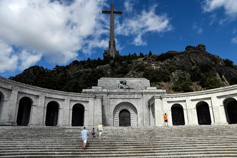 People visit the Valle de los Caidos (The Valley of the Fallen), a monument to the Francoist combatants who died during the Spanish civil war and Spain's General Francisco Franco's final resting place in San Lorenzo del Escorial, near Madrid