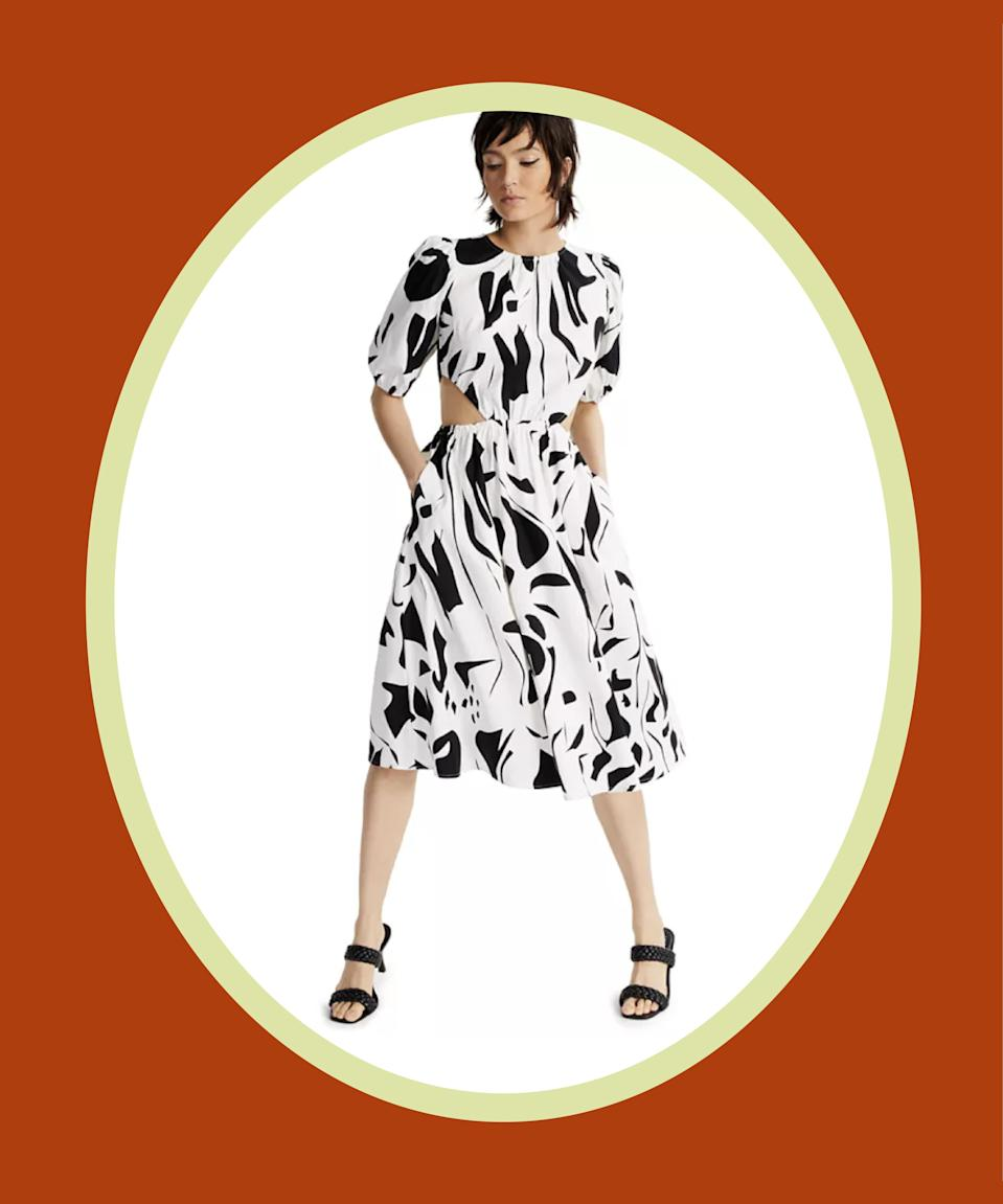 """<br><br><strong>INC International Concepts</strong> Printed Puff-Sleeve Cutout Dress, $, available at <a href=""""https://go.skimresources.com/?id=30283X879131&url=https%3A%2F%2Fwww.macys.com%2Fshop%2Fproduct%2Finc-printed-puff-sleeve-cutout-dress-created-for-macys%3FID%3D11891039%26CategoryID%3D68514%26ranMID%3D3184%26ranEAID%3DQFGLnEolOWg%26ranSiteID%3DQFGLnEolOWg-sl_ZYoodmPOzc5qE2wx2Iw%26LinkshareID%3DQFGLnEolOWg-sl_ZYoodmPOzc5qE2wx2Iw%26m_sc%3Daff%26PartnerID%3DLINKSHARE%26cm_mmc%3DLINKSHARE-_-5-_-63-_-MP563%26LSNSUBSITE%3DOmitted_QFGLnEolOWg"""" rel=""""nofollow noopener"""" target=""""_blank"""" data-ylk=""""slk:Macy's"""" class=""""link rapid-noclick-resp"""">Macy's</a>"""