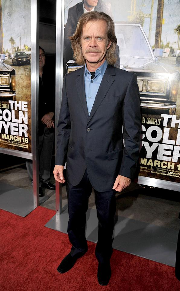 """<a href=""""http://movies.yahoo.com/movie/contributor/1800019192"""">William H. Macy</a> at the Los Angeles premiere of <a href=""""http://movies.yahoo.com/movie/1810088161/info"""">The Lincoln Lawyer</a> on March 10, 2011."""