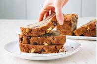 """<p>Banana bread stays good for days and makes a wonderful and welcomed food gift. </p><p>Get the recipe from <a href=""""https://www.delish.com/cooking/recipe-ideas/recipes/a50825/best-banana-bread-recipe/"""" rel=""""nofollow noopener"""" target=""""_blank"""" data-ylk=""""slk:Delish"""" class=""""link rapid-noclick-resp"""">Delish</a>.</p>"""