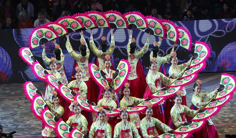 Dancers from the Korean National University of the Arts performed at the Lunar New Year parade in 2019, something travel restrictions now make impossible. Photo: Edmond So