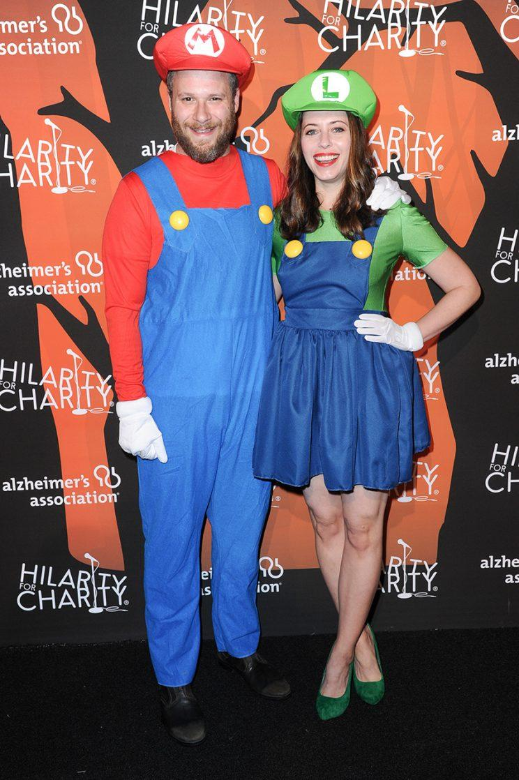 Seth Rogen and his wife, Lauren, hosted the 5th Annual Hilarity for Charity Variety Show over the weekend. (Photo: Richard Shotwell/Invision/AP)