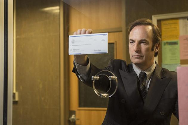 """This photo released by AMC shows Bob Odenkirk as Saul Goodman in a scene from """"Better Call Saul,"""" Season 1. (AP Photo/AMC, Ursula Coyote)"""