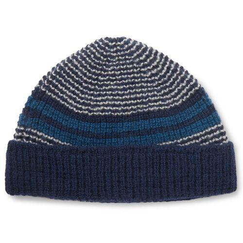 """<p><a class=""""link rapid-noclick-resp"""" href=""""https://theworkersclub.co.uk/collections/socks-and-accessories/products/beanie-extra-fine-merino-wool-in-navy-cream-and-teal-stripe"""" rel=""""nofollow noopener"""" target=""""_blank"""" data-ylk=""""slk:SHOP"""">SHOP</a></p><p>Husband and wife duo Adam and Charlotte Cameron formed The Workers Club in 2015 and have been making incredible collections of luxury inspired workwear-style pieces since. Crafted from a finer gauge this beanie has a sumptuous handfeel. Knitted in a small artisan workshop in the Scottish borders.</p><p>Striped Wool Beanie, £45, <a href=""""https://theworkersclub.co.uk/collections/socks-and-accessories/products/beanie-extra-fine-merino-wool-in-navy-cream-and-teal-stripe"""" rel=""""nofollow noopener"""" target=""""_blank"""" data-ylk=""""slk:theworkersclub.co.uk"""" class=""""link rapid-noclick-resp"""">theworkersclub.co.uk </a></p>"""