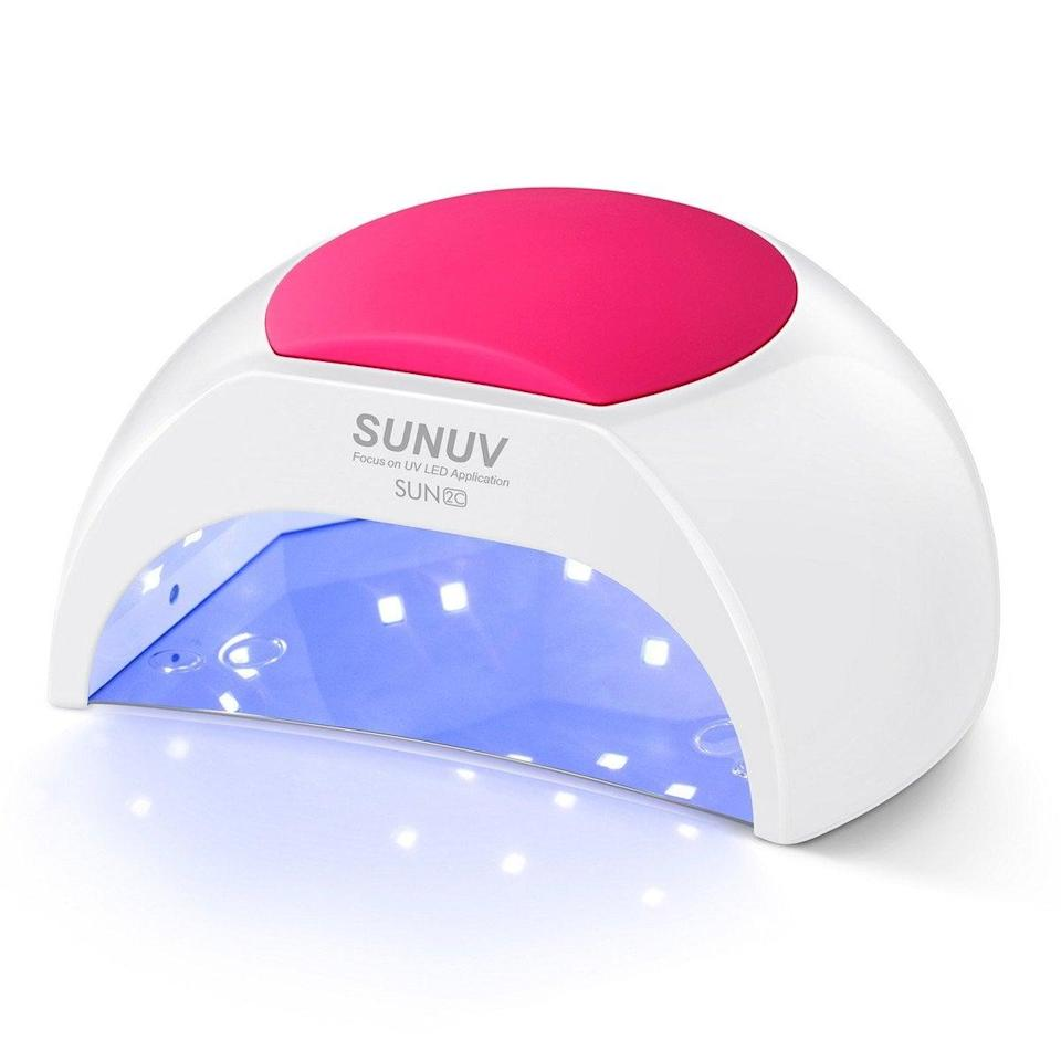 <p>You don't need to visit a salon to achieve a flawless gel manicure, as long as you have an at-home kit, like the <span>Sunuv UV LED Nail Dryer Light For Gel Nails Polish</span> ($40).</p>