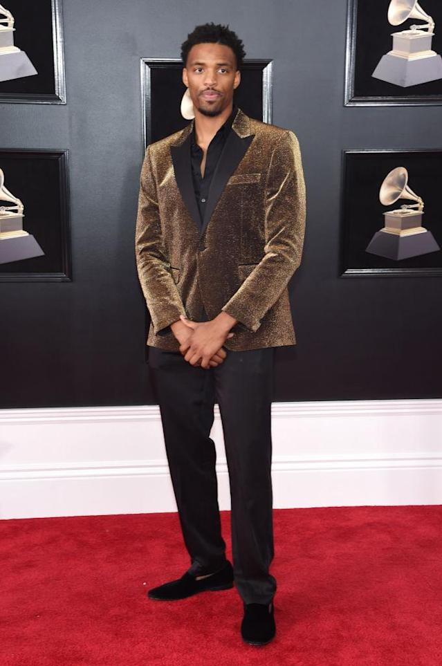 <p>Tyran Brown attends the 60th Annual Grammy Awards at Madison Square Garden in New York on Jan. 28, 2018. (Photo: John Shearer/Getty Images) </p>