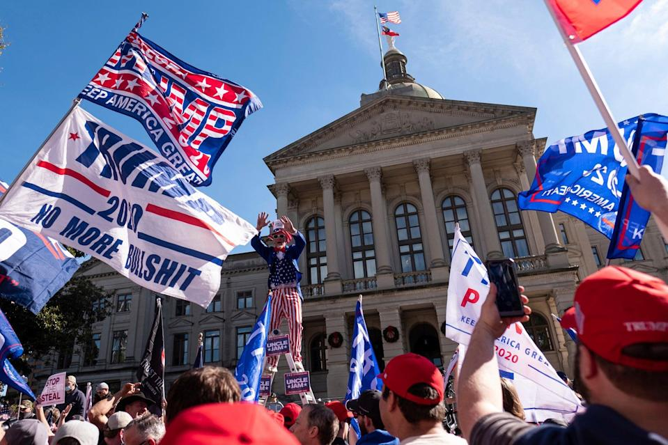<p>President Trump has raked in $170m from his supporters since Election Day.</p> (Ben Gray)
