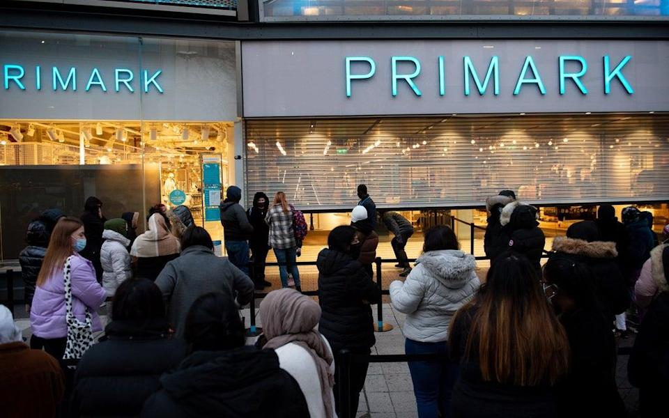 Latest Primark sales were below expectations after a dip in recent footfall (Jacob King/PA) (PA Wire)