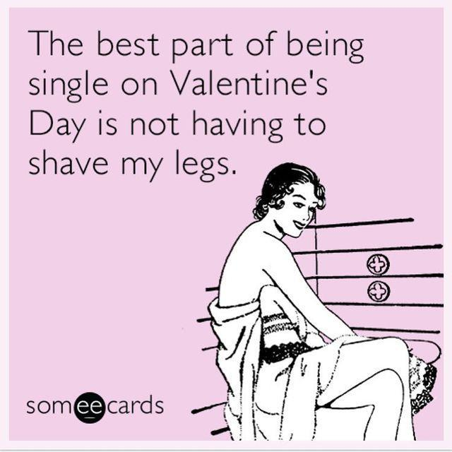 """<p>I mean, not having to shave and just getting to sit at home in your sweatpants and a messy bun? Sometimes being single and having to put in zero effort on Valentine's is <em>great</em>. </p><p><a href=""""https://www.instagram.com/p/Bt3_IBwAycn/"""" rel=""""nofollow noopener"""" target=""""_blank"""" data-ylk=""""slk:See the original post on Instagram"""" class=""""link rapid-noclick-resp"""">See the original post on Instagram</a></p>"""