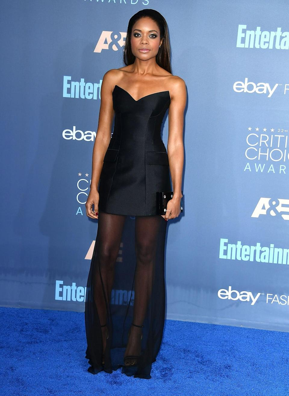<p>Elongate a mini dress – and give your legs some cover – in a sheer maxi skirt dress like this one. [Photo: Getty] </p>