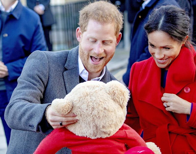 Meghan and Harry in Birkenhead in January 2019 [Photo: PA]