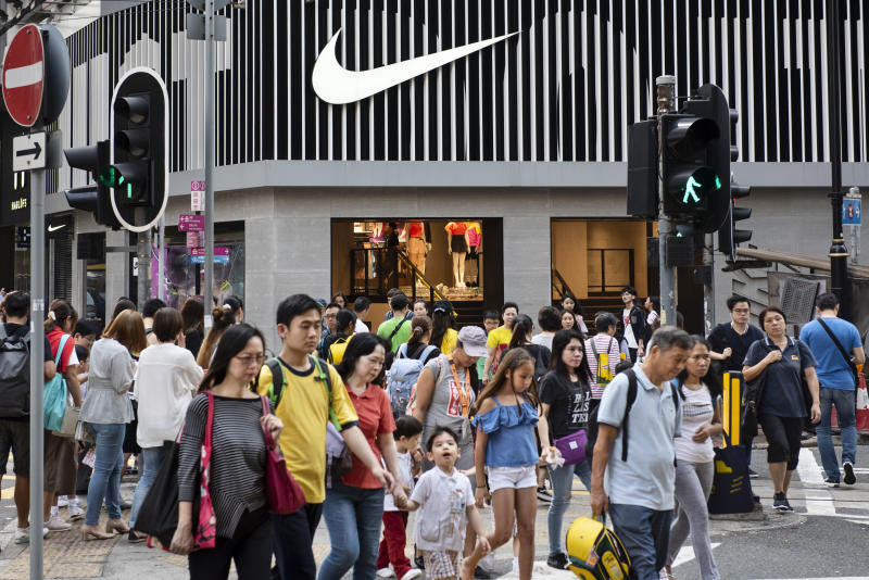 HONG KONG - 2019/04/26: American multinational sport clothing brand Nike store seen at Causeway Bay in Hong Kong. (Photo by Budrul Chukrut/SOPA Images/LightRocket via Getty Images)