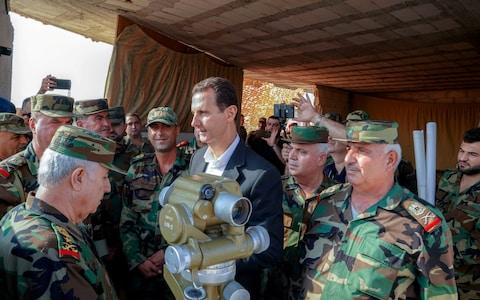 <span>Bashar al-Assad visited his forces in Idlib for the first time in years</span>