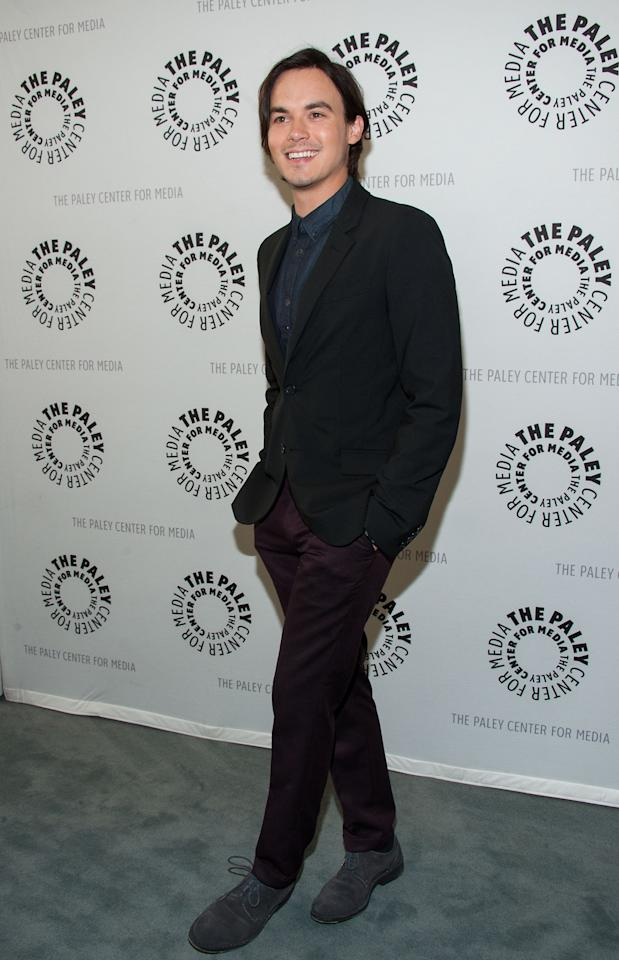 "BEVERLY HILLS, CA - JUNE 10: Tyler Blackburn  attends The Paley Center For Media Presents An Evening With ""Pretty Little Liars"" at The Paley Center for Media on June 10, 2013 in Beverly Hills, California. (Photo by Valerie Macon/Getty Images)"