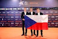 "Contestants Lake Malawi of the Czech Republic pose on the ""Orange Carpet"" during the opening ceremony of the 2019 Eurovision Song Contest in Tel Aviv, Israel May 12, 2019. REUTERS/Amir Cohen"